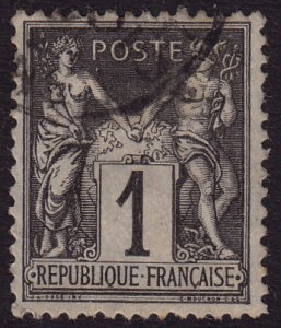 France - 1877 - Scott #86 - used - Peace and Commerce - 2 shades