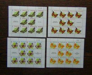 Montserrat 1981 Butterflies set in sheets of 10 MNH