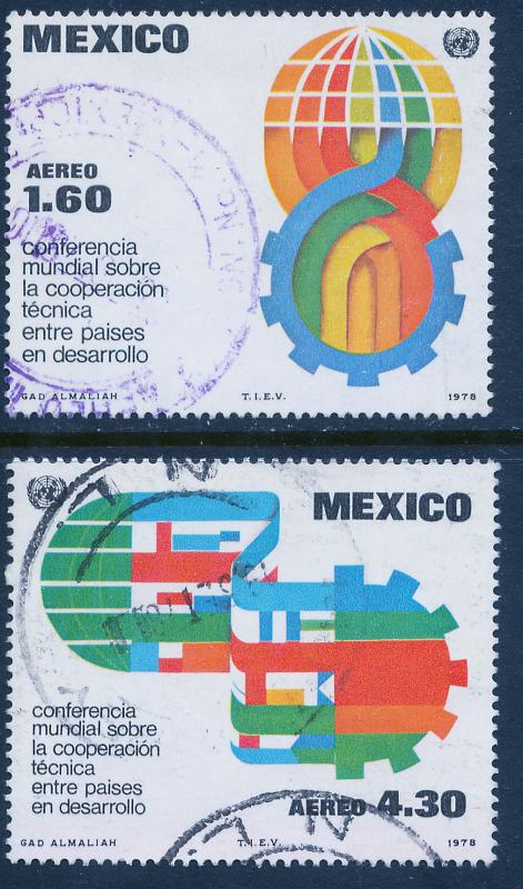 MEXICO C563-C564 Technical Cooperation Conference. Used. (1058)