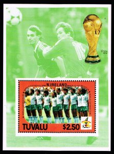 UK STAMP TUVALU 1986 MEXICO WORLD CUP MNH S/S