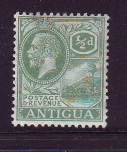 Antigua Sc 42 1/2d George V stamp mint