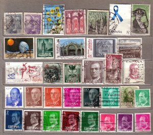 ESPANA SPAIN Different Used Stamps Lot #212