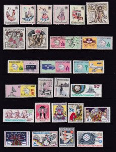 Czechoslovakia a small collection M & U