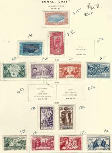 Somali Coast1928//1937 Page set F-VF MOG...Fill in vacant collection Spots!