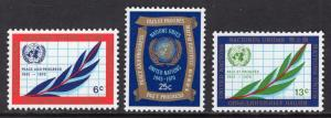 United Nations  New York  #209-211 1970  MNH  anniversary