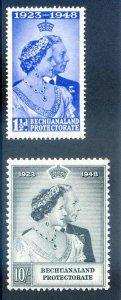 Bechuanaland 1948 Silver Wedding SG136/7 Unmounted Mint