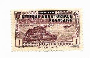 French Equatorial Africa 1936 - M - Scott #1 *
