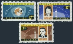 Viet Nam 291-293,MNH.Michel 298-300. Bykovsky,Tereshkova space flight,1963.