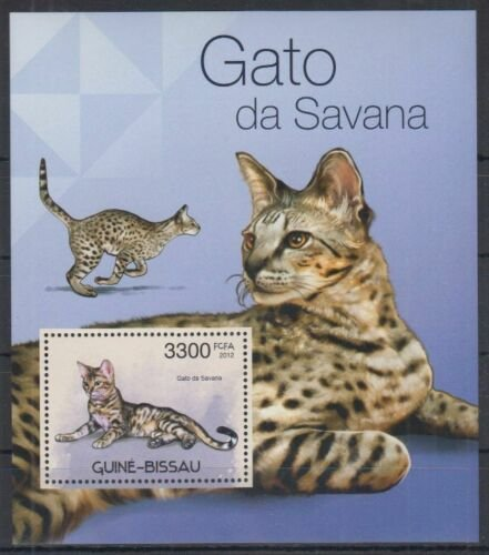 Guinea-Bissau MNH S/S Cats 2012