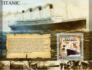 Sao Tome & Principe 2007 MNH Ships Stamps Titanic Nautical 1v S/S