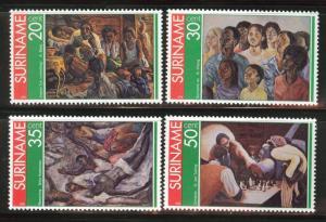 Suriname Scott 454-457 mnh** 1976 ART set