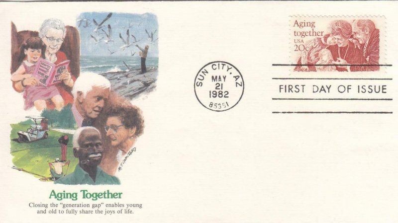 1982, Aging Together, Fleetwood, FDC (D13883)