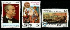 SPAIN SG3438/40 1997 ANNIVERSARIES FINE USED
