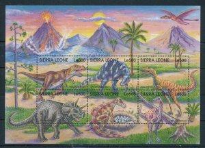 [107128] Sierra Leone 1998 Prehistoric animals dinosaurs Sheet MNH