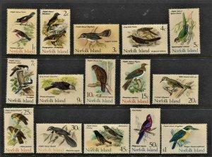STAMP STATION PERTH Norfolk Island #126-140 Birds Set MNH- CV$38.00
