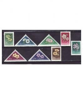 Hungary - Flowers on Stamps - 8 Stamp  Set  - 1195-202