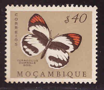 Mozambique Scott 368 MNG Butterfly stamp