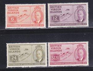 Virgin Islands 98-101 Set MNH Maps
