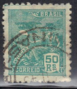 BRAZIL SC# 221  USED  50r 1920-22      SEE SCAN