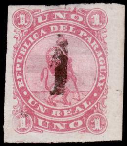 Paraguay Scott 19 (1884) Mint H F-VF, CV $10.00 B