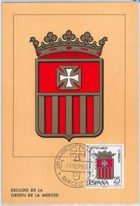 48397   MAXIMUM CARD  - Heraldry   -  SPAIN 1963