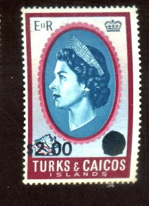 TURKS AND CAICOS IS #195 MINT FVF OG NH Cat $6