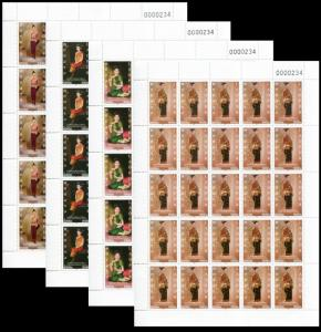 403 - Laos 2017 Mi# 2319/2322 MNH Full Sheet with serial number 234