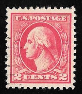 528B 2 cents Washington Carmine ty 6 Stamp used EGRADED VF 84