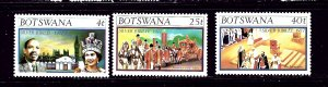 Botswana 179-81 MNH 1977 QEII Silver Jubilee