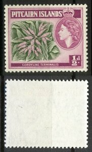 Pitcairn Islands 1963, 1/2p flowers with New Watermark II VF MNH, Mi 36 cat 3€