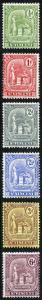 St Vincent SG102/7 1909 Redrawn Set of 6 Fresh M/Mint (hinge remainders)