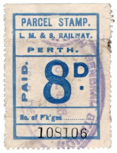 (I.B) London Midland & Scottish Railway (Caledonian) Parcel 8d (Perth)