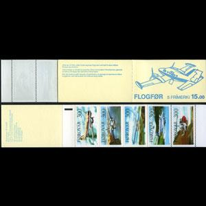 FAROE IS. 1985 - Scott# 138a Booklet-Planes NH
