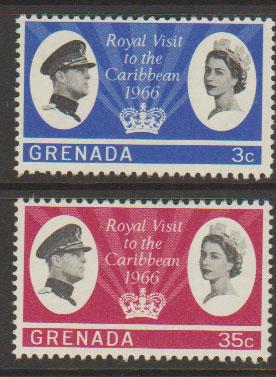 Grenada  QE II  SG 229 - 230  lightly mounted mint