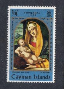 CAYMAN ISLANDS 242 MNH VF Madonna Religious Art