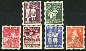 Indonesia 1954 Child Welfare  SG676/81 6v FU Stamps