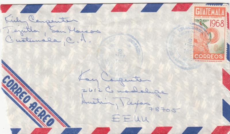Guatemala 401 Used on Airmail Cover