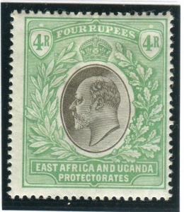 EAST AFRICA & UGANDA-1903-4 4r Grey & Emerald Green mounted mint Sg 12