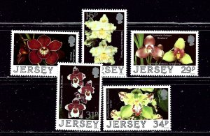 Jersey 442-46 MNH 1987 Orchids