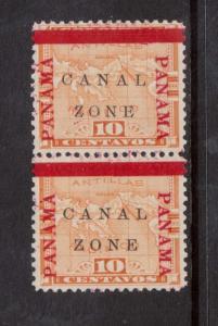Canal Zone #13b #13 XF/NH Pair