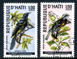 Haiti 1969 Birds Overpinted For Apollo XI