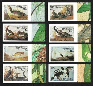 Bhutan Duck Ptarmigan Plover Grouse Swan Birds Audubon 8v Imperf SG#624-631