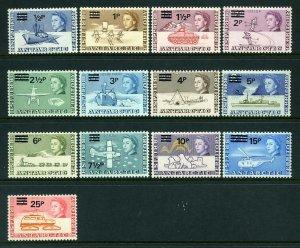 British Antarctic Territory 1971 Decimal opt p/set (13v.) mint BAT