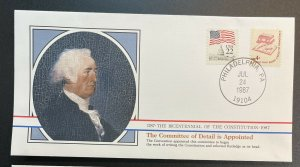 US #1585,2115 Used on Cover - Bicentennial of Constitution 1787-1987 [BIC17]