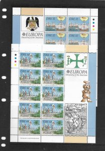 IRELAND, 864-865, MNH, SS, OF 10 DISCOVERY OF AMERICA