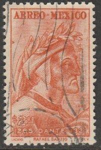 MEXICO C308, 700th Anniv of the birth of Dante Alighieri USED. VF.  (858)