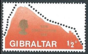 Gibraltar, Sc #222, 1/2d MH