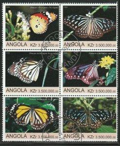 Angola Butterflies Used No Catalogue