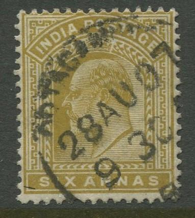 STAMP STATION PERTH India #67 KEVII Definitive Issue Used CV$6.00.