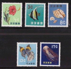 RYUKYU Scott 58-62 MH* stamp set 1959